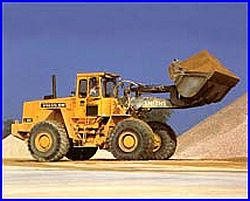 Earth Mover and Aggregate Material